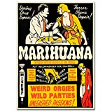 LaMAGLIERIA Hochqualitatives Poster - Marihuana Weed with