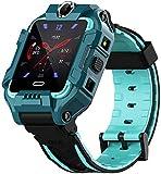 Niños Smart Watch Pulsera Inteligente 4G LTE SIM Posición GPS Girar Cámaras Duales Videollamada IP68 Impermeable Niños Niño Niña Smartwatch Actividad Fitness Tracker Verde