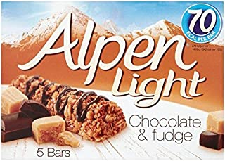 Alpen Light Bars Choc & Fudge - 5 x 19g