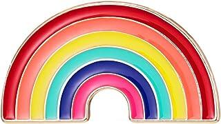 Wmaple Spilla Rainbow Pattern Spilla Spilla Piccola Accessori in Stoffa Pin Gioielli Regalo di Compleanno Arcobaleno 1 1.8...
