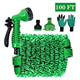 PECHTY Expandable Garden Hose Pipe, 100FT 30M Water Hose Pipe Flexible Expandable Hosepipe