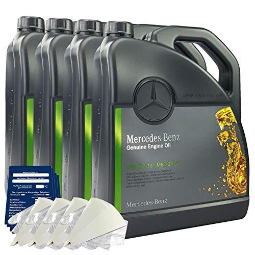 Mercedes-Benz 5W-30 MB 229.51 - Set de aceite de motor original de 20 litros