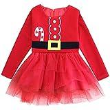 FANCYINN Bebita 1er Traje de Navidad Vestido de tut Princesa Infantil Ropa de Fiesta 80