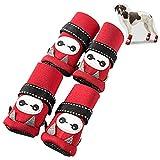JFF Zapatos para Mascotas, Cubiertas para Zapatos para Mascotas Pequeñas Y Medianas, Cubiertas para Pies, Zapatos Adecuados para Cachorros Corgi, Caniche Pomerania,1