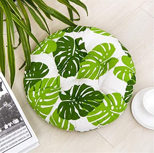 Tatami - Cojín de Silla Redondo de 45 cm, cojín de Asiento, cojín japonés, algodón y Lino hipersuave, cojín de Asiento ventilado, Ideal para Oficina, Interior y Exterior
