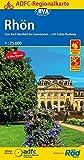 ADFC-Regionalkarte Rhön 1:75.000, reiß- und wetterfest, GPS-Tracks Download - Mit E-Bike Touren: Von Bad Hersfeld bis Gemünden - mit Fulda-Radweg (ADFC-Regionalkarte 1:75000)