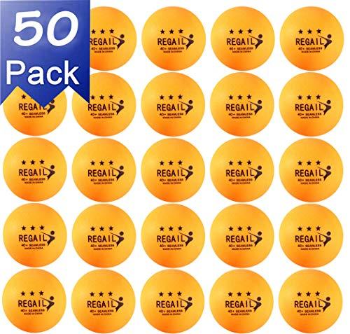 NXY 50 pcs 3 Estrellas 40mm Tenis de Mesa Pelotas Ping Pong Pelotas Aficionado Avanzado Formación Práctica Pelotas Amarillo