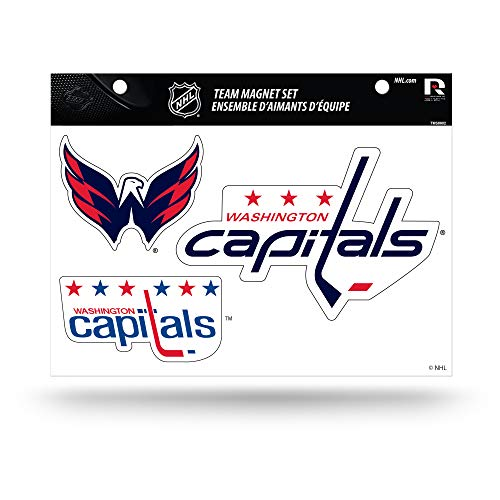 NHL Washington Capitals Die Cut Team Magnet Set Sheet