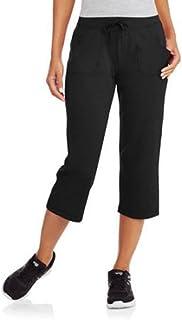 8721b9280e Athletic Works Women s Active Knit Capri Black