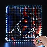BRIKSMAX Kit de iluminación LED Lego Art Star Wars The sith - Compatible con Lego 31200 Building Blocks Model- No incluir el Conjunto de Lego