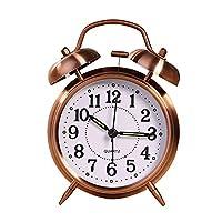 (BTFirst)レトロアナログ目覚まし時計ダブルベルレトロ寝室小型目覚まし時計