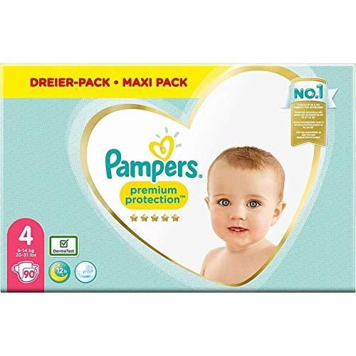 Pampers Größe 4 Premium Protection Baby Windeln, 90 Stück, Weichster Komfort Und Schutz (9-14kg)