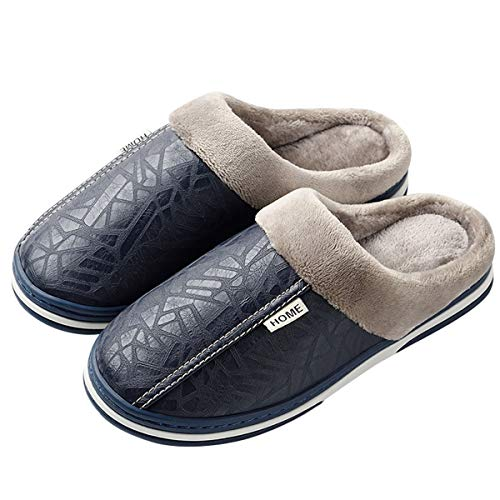 DoGeek Zapatillas Casa con Talón Abierto Invierno Interior Pantuflas Caliente Forro Ultraligero Cómodo y Antideslizante, Impermeable