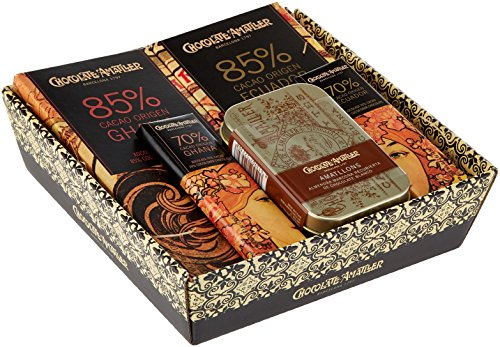 Chocolate Amatller - Chocolates variados en Cesta Regalo Orígenes 211g