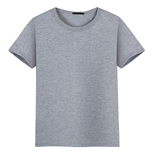 Doufan ronde hals effen kleur heren t-shirt katoen korte mouw