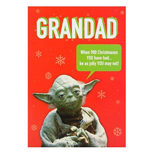 Hallmark Star Wars Christmas Card 'for Grandad' - Medium