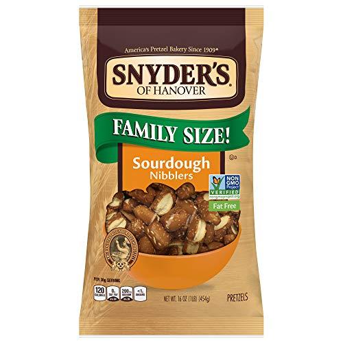 Snyder#039s of Hanover Pretzels Sourdough Nibblers 16 Ounce Bag Pack of 12