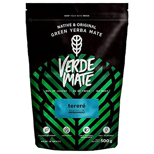 Verde Mate Green Terére 500g, Yerba Mate Té Terére, Yerba Mate de Brasil, Yerba Mate Refrescante, Sin Gluten, Secada sin Humo (Comestibles)