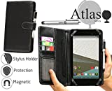 Navitech Schwarz 7 Zoll bycast Leder 7' Folio Case/Cover/Hülle mit Stylus für das Acer Iconia Tab 7 A1-713HD / Acer Iconia One 7 B1-750