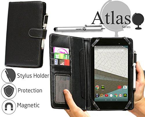 Navitech Odys Mira 17,8 cm Tablet-PC 7 Zoll bycast Leder Folio Hülle/Cover/Hülle in Schwarz mit Stylus