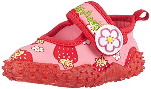 Playshoes Badeschuhe Erdbeeren mit höchstem UV-Schutz nach Standard 801 174757, Mädchen Aqua Schuhe, Pink (original 900), 20/21 EU