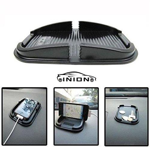INION AD-1122- Anti Rutsch Matte Halterung Handyhalterung für Navigationssysteme Mobiltelefone Kugelschreiber Navigationssysteme Taschenlampe Münzen Schlüssel ParkTicket etc (1x Anti-Rutsch Matte)
