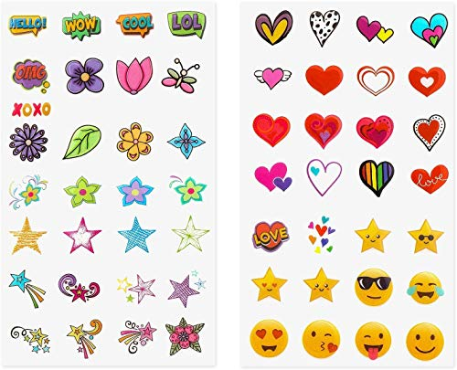 Zink Deluxe 50+ Sticker Set - Personalisieren und dekorieren Sie Ihre Instax-Kamera, Sofortdrucker und andere Geräte mit lustigen Formen, niedlichen Emojis und trendigen Designs