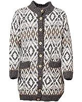ICEWEAR Tórdís Icelandic Wool Knit Cardigan for Women with Pockets   White - XL