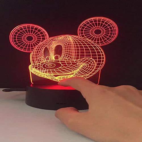 Luz de noche 7 colores 3DLED luz de noche Thor Thor fanáticos de películas infantiles decoración de escritorio de dormitorio pequeño
