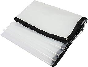 AOHMG Transparante Tarps, zware waterdichte dekzeil, versterkte Rip-Stop met Grommets regendichte doek 12x12ft/4x4m
