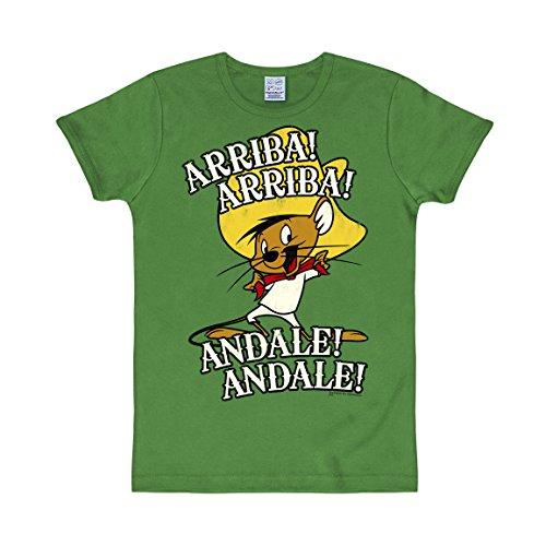 Logoshirt Looney Tunes - Speedy Gonzales - Arriba Andale Unisex Slimfit T-Shirt - grün - Lizenziertes Originaldesign, Größe XL