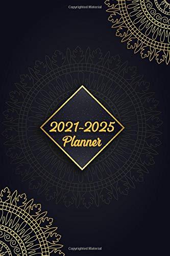 2021 - 2025 5 Year Planner spiral bound Organizer, Monthly Planner. Plan and schedule your next five years Notebook Journal diary: Schedule 2021, 2022, 2023, 2024, 2025