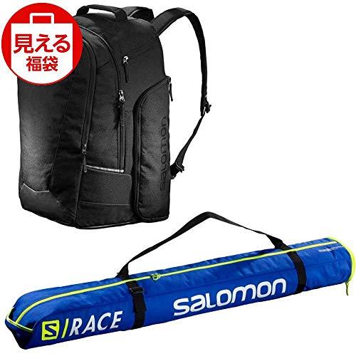 SALOMON(サロモン) スキーバッグセット エクステンド1本入れ 130cm+25 ブラック & ゴートゥスノー ギアバック 50L ブラック