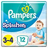 foto Pampers - Pantalones de baño Splasher, Tamaño del paquete 3-4, 96 pañales (8x 12 pañales)