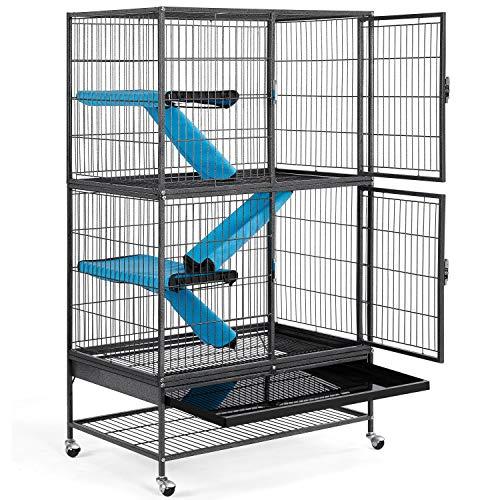 Yaheetech Grande Cage pour Rongeur 4 Niveaux, Cage pour...