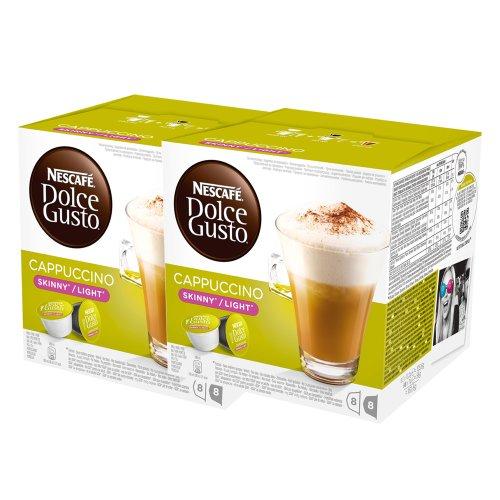 Nescafé Dolce Gusto Cappuccino light, weniger Kalorien, Kaffee, Kaffeekapsel, 2er Pack, 2 x 16 Kapseln (16 Portionen)