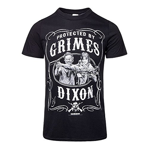 T-Shirt The Walking Dead Protected by Grimes & Dixon (L)