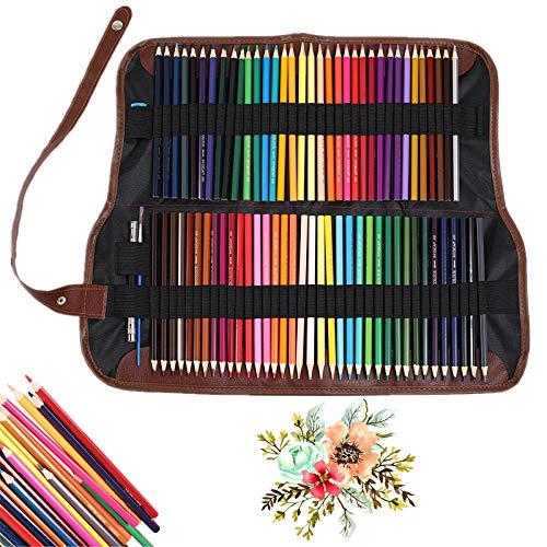 Queta Lápices de Acuarela Solubles en Agua Juego de 72 Colores Lápices de Color Artísticas Lápices de Acuarela Profesionales para Adultos y Niños de Uso Húmedo y Seco para Colorear Mezclar