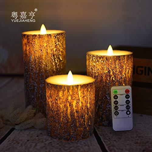 Achicoo grenenhout, de led-kaars met dansvlam, kerst-/Halloween-kaarslicht decoratief/nieuw led-nachtlampje is voltooid.