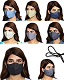 Maple 3 Layer Printed Cotton Mask Women (PACK OF 8) Mask Reusable Washable Anti Pollution Fashion For Men Ladies Unisex Free Size