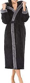 Bathrobe for Women, Women's Hooded Bath Robe Spring Homewear Warm Plush Shawl Bathrobe Dressing Gown Nightwear