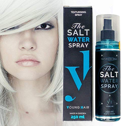 YoungHair The Salt Water Spray – Salzspray – Salzwasser – Meersalz Haarspray | mehr Textur, Volumen Haar | Feiner Sprühnebel & Styling Lotion für einen zerzausten Haarlook | Sulfat-Frei & Paraben-Frei | 250 ml - 8
