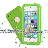 Waterproof iPhone 5/5S/SE Case, EFFUN IP68 Certified Waterproof Dustproof Snowproof Shockproof Case Fully Sealed Underwater Cover with Built-in Screen Protector for iPhone 5/5S/SE Fruit Green