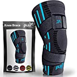 Pure Support Knee Brace Sleeve | with Strap Compression Patella Stabilizer for Meniscus Te...