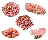 Porc français - Colis de viande de porc de 5 kg - Origine Occitanie