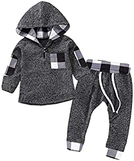 Black 9M Newborn Baby Girls Clothes 2019 Autumn Winter Baby Boys Clothes Set 2pcs Outfits Kids Baby Costume Infant Clothing for Baby Suit