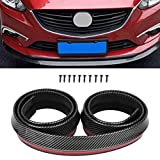 ECCPP Front Bumper Lip Splitter fit for compatible with All Most Vehicles Black Trim Protection Splitter Spoiler