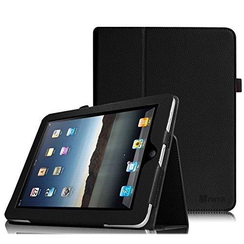 Fintie Hülle kompatibel mit iPad 1 - Folio Slim Fit Ständer Kunstleder Schutzhülle Cover mit Stylus Loop für iPad 1. Generation, Schwarz