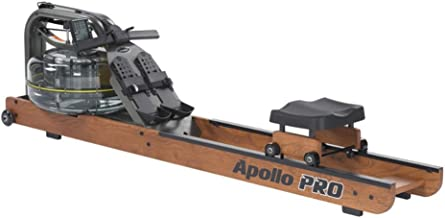 First Degree Fitness Apollo Pro 2 Indoor Rower Rowing Machine with Variable Fluid Resistance and Multi-Level Monitor