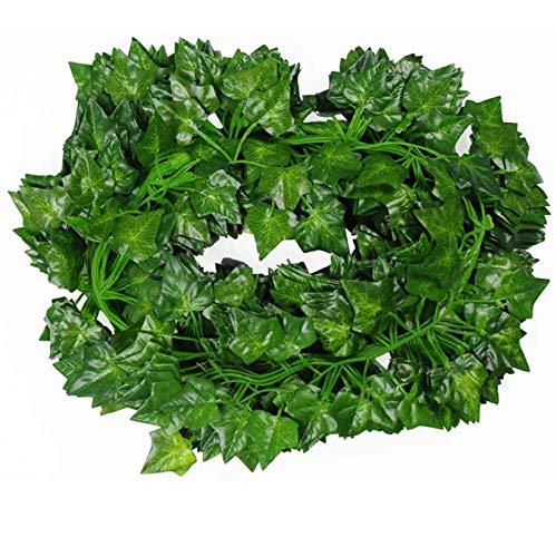 HINK 12 hebras 86 pies Artificial Lvy Leaf Vine Garland Falso follaje Plantas Colgantes, decoración del hogar del día de San Valentín